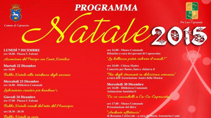 Programma Natalizio 2015