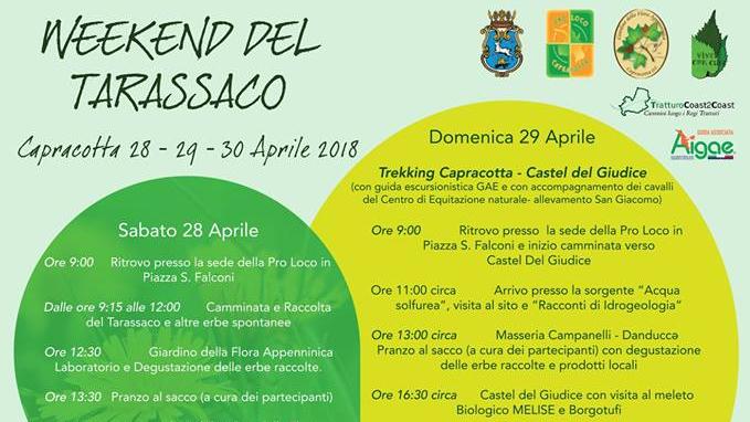 Weekend del Tarassaco – 28/30 Aprile 2018