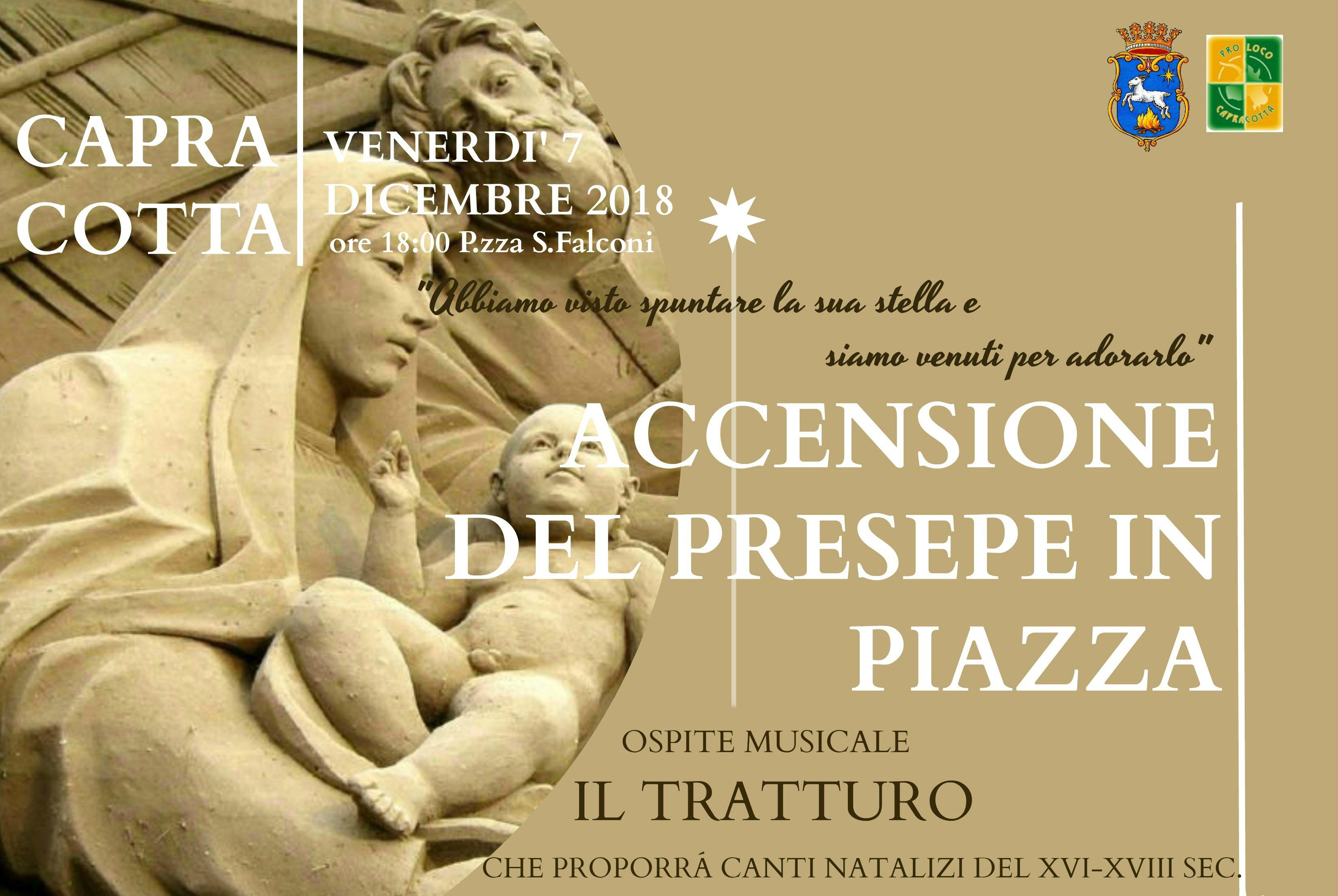 Accensione del Presepe in Piazza 7 Dicembre 2018