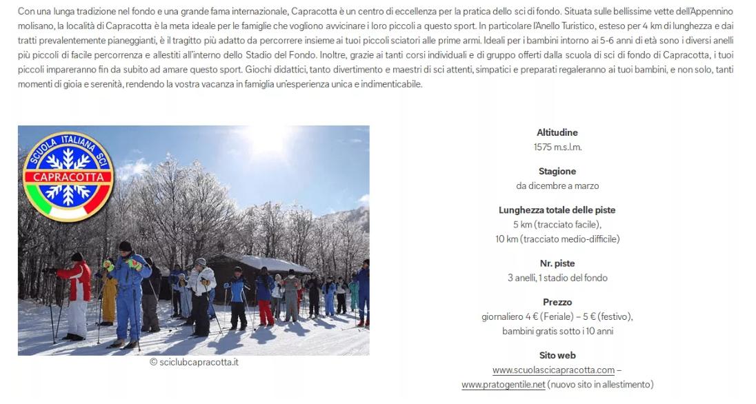 La stazione sciistica di Prato Gentile tra le migliori località italiane per lo Sci di fondo per i bambini sul portale C&A