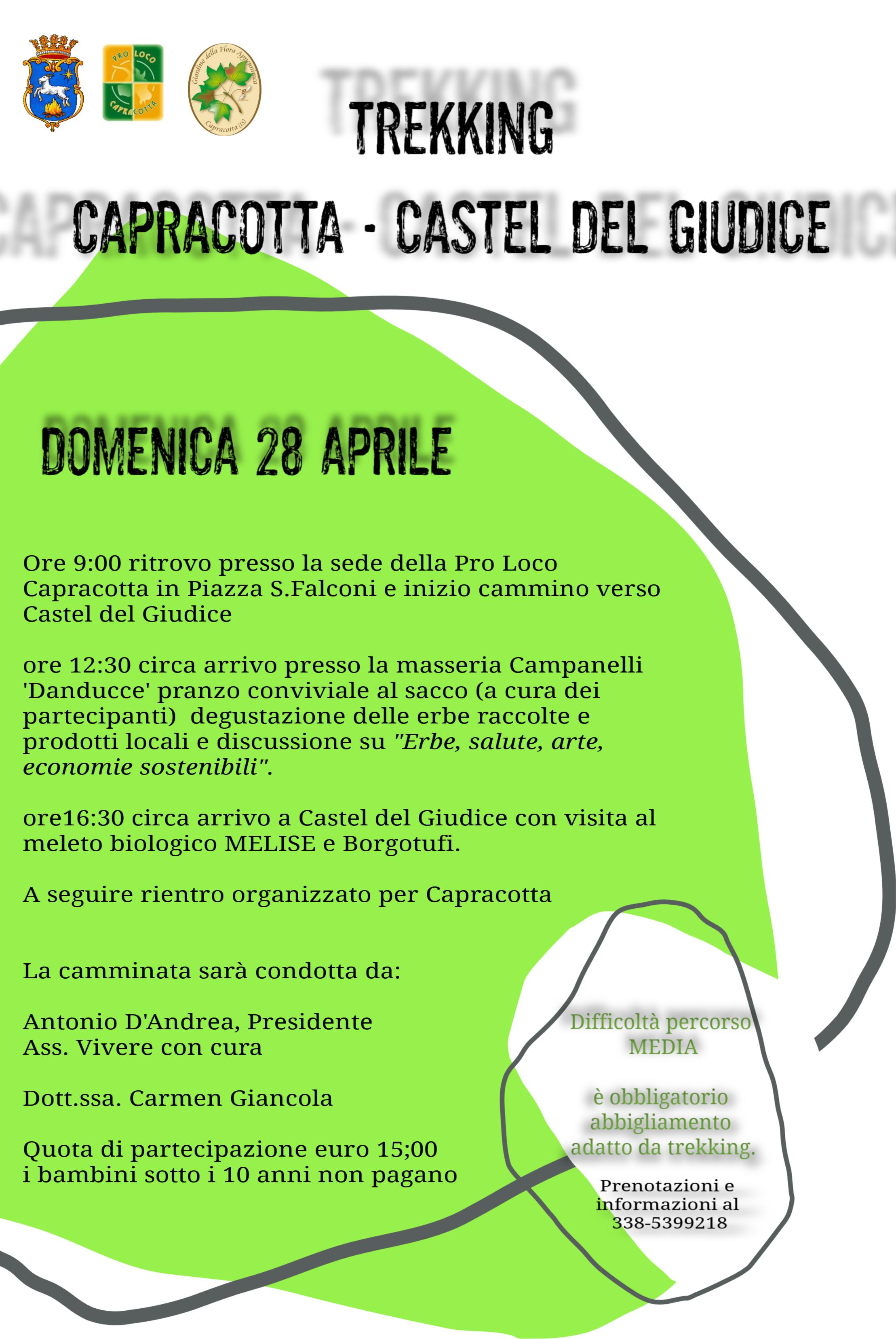 Camminata Multidisciplinare Capracotta – Castel del Giudice 28 Aprile 2019