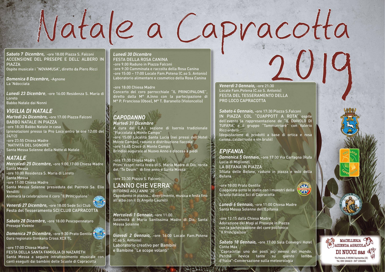 Programma Natalizio: Capracotta presenta gli eventi per il Natale